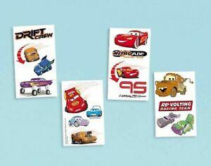 CARS DISNEY PIXAR TATTOOS FAVORS FAVOURS PARTY SUPPLIES 16 TATTOOS