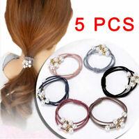 Stylish Pearl Elastic Hair Band Ponytail Holder Scrunchy Rope Hair Accessory