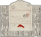 "c. 1891 Stationery 1d. pink embossed cover ""The Half Penny Letter Post Compa..."