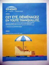 PUBLICITE-ADVERTISING :  ENGIE gaz naturel  2016 Parasol,Coktail,Transat