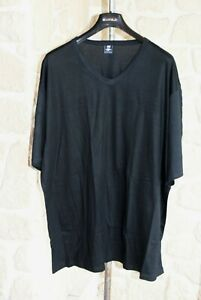 Tee shirt noir de marque MAXFORT taille 6XL jersey 100% coton