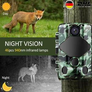 20MP Wildkamera mit Infrarot Nachtsicht 1080P Wildtierkamera mit Bewegungsmelder