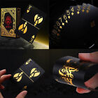 55pcs/set Gold Plastic PVC Poker Waterproof Magic Playing Cards Table Games