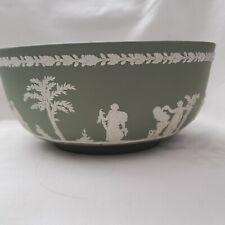 Vintage Bowl Wedgewood Green Jasper Retro Collectible Green