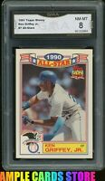 1991 Topps All-Star Glossy #7 Ken Griffey Jr Graded GMA 8 NM-MT= PSA 8? HOF