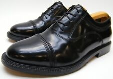 cfc202852 MENS PARAGON BLACK LEATHER CAPTOE OXFORD DRESS SHOES SZ 8 D 8D