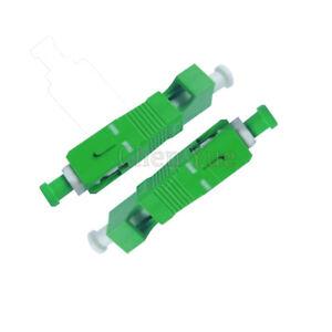 2pcs LC APC Female -SC APC Male Hybrid Adapter VFL Use SM Fiber Optic Connector