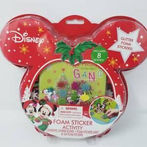 Disney Mickey & Minnie Mouse Christmas Foam Sticker Activity Set NEW DIY Craft