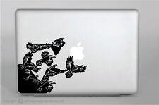 Crows Flying Vinyl Decal,laptop,ipad,macbook pro,skin,