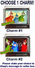 Three Fairies Sleeping Beauty Custom Italian Charm, Disney, 3 Fairy, Choose!