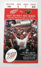 Red Wings Steve Yzerman Parade Photo Wings Game ticket stub - face value $78.