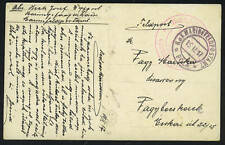 "AUSTRIA 1917 ""MARINE FELDPOST"" POST CARD RED & BLACK"