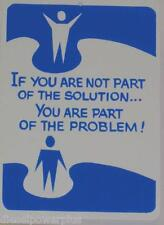 funny man cave sign If your not solution u are the problem office wall work shop