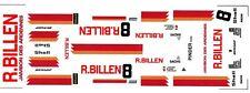 #8 R.Billen 1985 Spa Porsche 1/43rd Scale Slot Car Waterslide Decals
