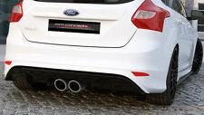 Heckansatz für Ford Focus ST MK3 Heck Diffusor RS 2015 Look ABS Heckschürze