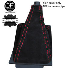 RED STITCHING REAL SUEDE MANUAL SHIFT BOOT FITS AUDI 80 90 B3 1984-1990