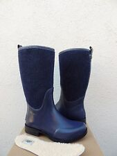 UGG TALL REIGNFALL NAVY BLUE RUBBER/ RAIN BOOTS, WOMENS US 8/ EUR 39 ~ NIB