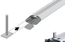 Adapterschraube M6x36 für T-Nut Lastenträger