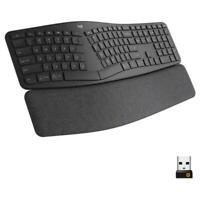 Logitech ERGO K860 Wireless Waveform Keyboard - Black - 920-009166