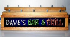 11 BEER TAP HANDLE DISPLAY LED ILLUMINATED  BAR & GRILL Bar sign PERSONALIZED