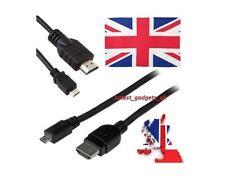 2X HDMI to MICRO USB Cable Lead Digital camera Amazon Kindle Fire HD LCD TV 1080
