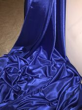 """1 MTR QUALITY ROYAL BLUE CREPE BACK SATIN FABRIC...58"""" WIDE"""