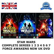 STAR WARS COMPLETE COLLECTION 1-7 SERIES 1 2 3 4 5 6 7 TRILOGY PREQUEL FORCE NEW