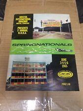 1965 Bristol INTERNATIONAL DRAGWAY 1st ANNUAL NHRA SPRINGNATIONALS  Program