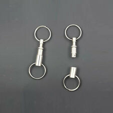 5X Detachable Dual Key Rings Removable Pull Apart Quick Release Keychain Gifts