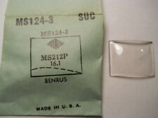 BENRUS SUC MS124-3 SUC-124-3 Factory Replacement Watch Crystal 2.12 x 1.61 mm
