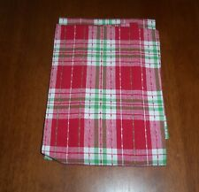 "Cotton Red Green Multi Color Embroidered  26"" L X 16"" W Kitchen Towel NEW"