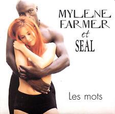 Mylène Farmer Et Seal CD Single Les Mots - France (EX+/EX+)