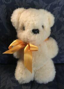 TEDDY BEAR Sheep skin Fleece Wool Stuffed Toy Lambskin Ausfleece Ballarat 28cms
