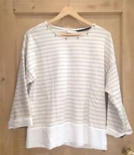 ZARA Jumper size XS 6 8 Jewel BNWOT CREAM Grey STRIPE