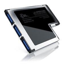 CSL - USB 3.0 3 Port ExpressCard 54mm %7c PCMCIA Schnittstellenkarte / Adapter NEU