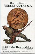 BONS DE LA DéFENSE NATIONALE. GUERRE. WAR. VERSEZ VOTRE OR. POUR YOUR GOLD