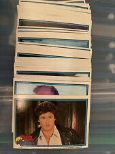 """1982 Donruss Knight Rider Complete 55 Card Set Tv Show """"kit come get me�"""