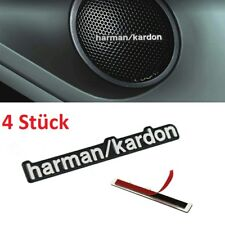 4x Harman/Kardon Emblem Aufkleber Lautsprecher Mercedes Benz Audi VW BMW X5 AMG