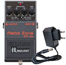 Boss MT-2w Metal Zone Waza Edición Distorsión Pedal + Keepdrum Alimentación 9V