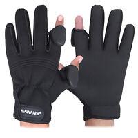 SAWANS® Neoprene Fishing Gloves Folding Fingers Waterproof Rubber Grips Shooting