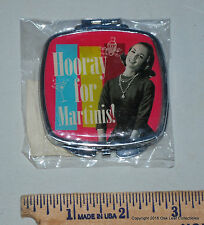 New Retro Compact Mirror - Hooray for Martinis