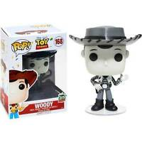 "DAMAGED BOX DISNEY ROUNDUP WOODY BLACK & WHITE 3.75"" POP VINYL FIGURE  FUNKO"