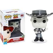 DISNEY ESCLUSIVO Roundup Woody Bianco e nero 9.5cm POP VINILE Statuetta Funko