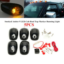 5xSmoked Amber 9-LED Cab Roof Top Marker Running Light Lamp For Truck SUV Pickup