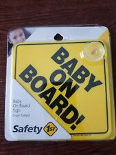 Safety Sign Baby On Board Car Window With Suction Cup
