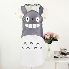 Hot My Neighbor Totoro Cartoon Waterproof Apron Cute Kitchen Cooking Bib Gray