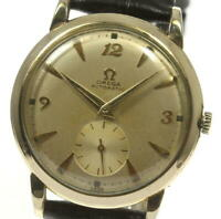 OMEGA cal.342 harf rotor Silver Dial Automatic Men's Watch_545981