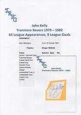 JOHN KELLY TRANMERE ROVERS 1979-1982 ORIGINAL HAND SIGNED CUTTING/CARD