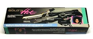 """BELSON GOLD 'N HOT 3/4"""" PROFESSIONAL SPRING-GRIP CURLING IRON-24K GOLD PLATED"""