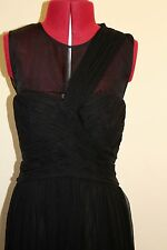 NWT stunning Mango silk special occasion dress, black, event party ball prom, 8